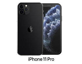 Apple iPhone 11 Pro Space Gray 3D model 2020