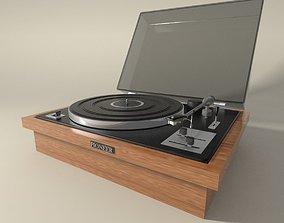 Pioneer vintage record player 3D