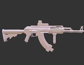 3D model AK A2 aka AK 47 assault rifle