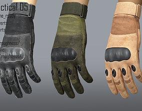 3D asset FPS hand glove tactical 05