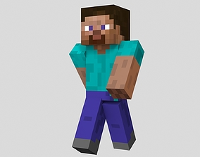 Steve character from Minecraft game 3D