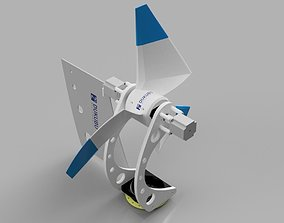 Advanced Horizontal Axis Wind Turbine 3D print model
