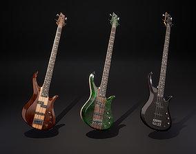 Bass guitar 3D asset realtime