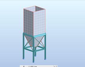 3D Silo Design High Detail Revit Structure Model