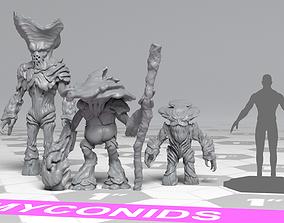 3D printable model Myconids - DnD Monsters - 3 Units