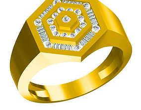 Mens diamond engagement rings cad ring 3D printable model