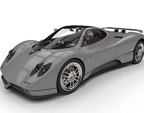 3D model Pagani Zonda C12 Supercar High Poly
