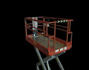 Industrial Scissor Lift 3D model