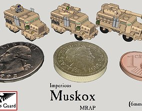 3D printable model 6mm and 8mm Muskox MRAP Armored