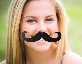 3D printable model Mustache Mustache Stick