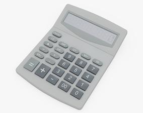 Calculator 3D model low-poly