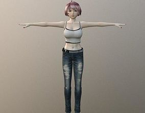 Racheal Weekend Casual - Rigged Anime Character 3D asset