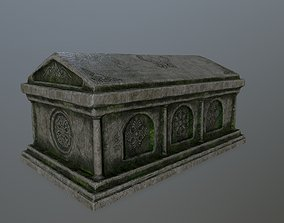 statue tomb 1 3D model game-ready