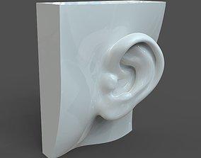 CAD-friendly Casual Woman Ear Model 3D