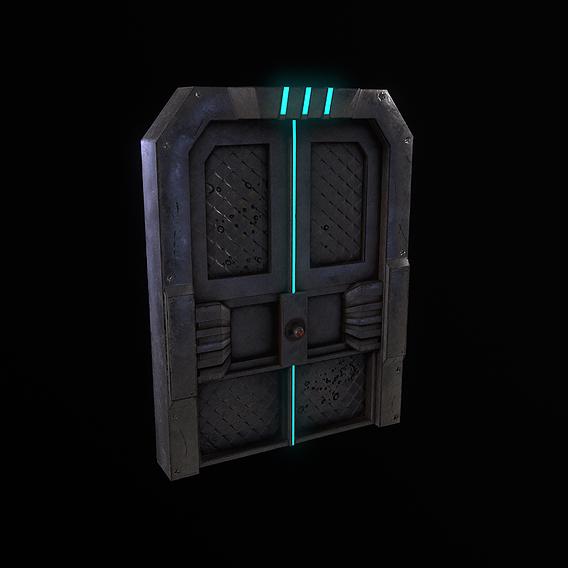 Cyberpunk Sci-fi Door 3