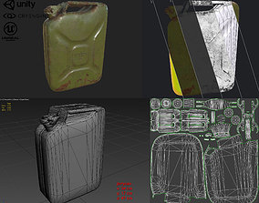 Soviet old rusty canister 20L 3D asset