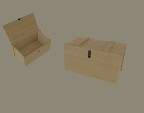 3D asset rigged Military Ammo Crate