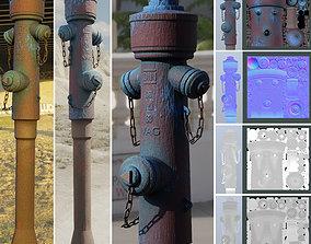 3D model Blue Fire Hydrant VAG - Version 2 - Rusty 2