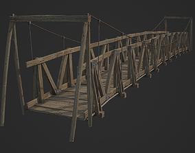wooden Bridge 3D model low-poly