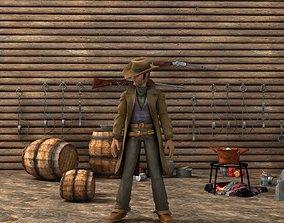 the cowboy 3D model