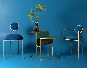 Orbit Chairs and Table 3D model