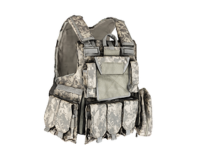 Military Body armor of ACU 20 3D model