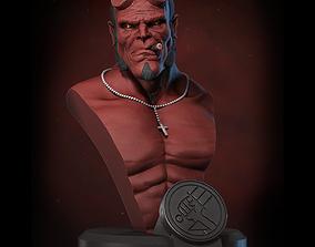 Hellboy bust miniature 3D print model