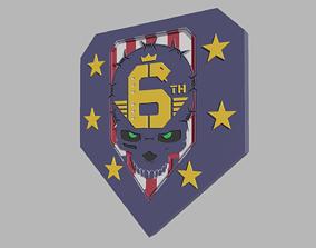 6th Street Gang Logo Cyberpunk 2077 Fan 3D print model 4