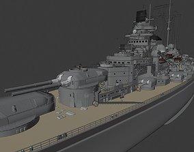 battleship Tirpitz 3D print model