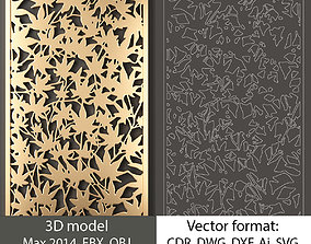 Decorative panel 31 model and vector