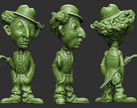 3D print model charlie chaplin cartoon casual