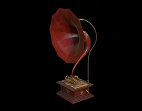 Gramophone 3D model game-ready