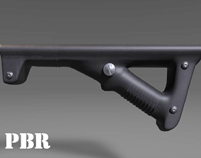 Angled Grip - Foregrip - Weapon Attachment - 3D asset 3