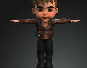 rigged children 3D model download