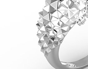 Hedgehog ring 3D print model fashion-ring