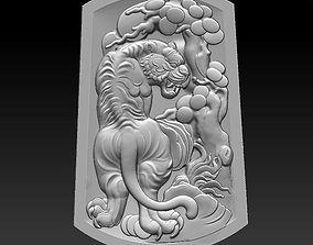 3D tiger obj