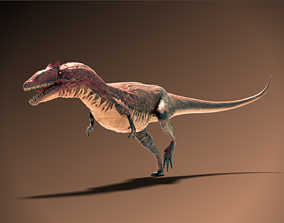 3D asset rigged realtime Allosaurus