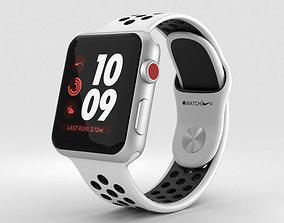 3D Apple Watch Nike 38mm GPS Silver Aluminum Pure Platinum