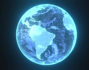 Planet Earth Hologram Sci-Fi 3D Model VR / AR ready