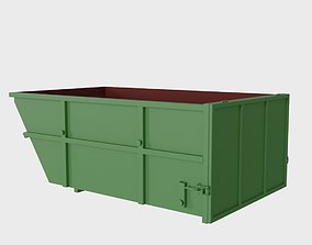 3D asset Steel dumpster 10 cubic meters with open top