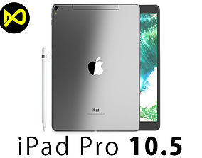 3D model Apple iPad Pro 105 2017 Inch Cellular Space 2