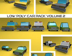 3D model Low Poly Vehicle Pack Volume 2