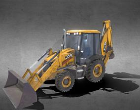 Tractor JCB Backhoe Loader 3D Model excavator