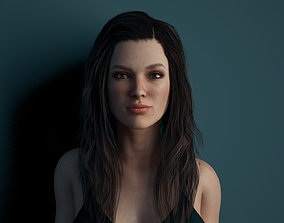 3D asset Rigged Female Model with Facial Blend shapes
