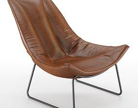 3D model Leren Fauteuil Beal Armchair