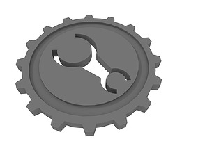 Gear Key Token 3D print model