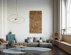 Pixels and Flowers living room interior scene 3D