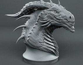 Dragon Head Sketch fantasy 3D print model