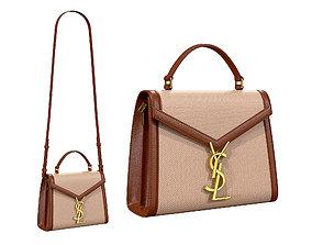 3D model YSL Saint Laurent Cassandra Mini Top Bag Beige