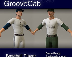 3D Baseball Player Male cap